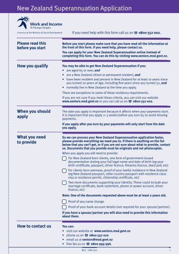 application form for working for families nz
