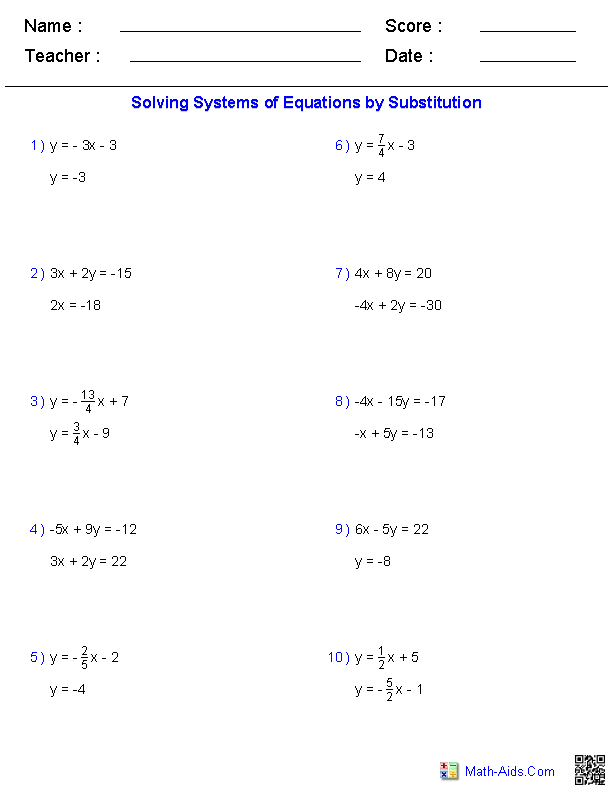 3 variable system of equations problems pdf