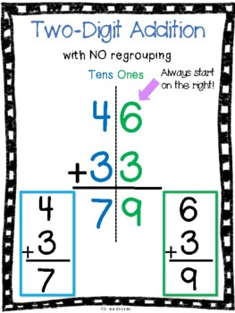 2 digit subtraction without regrouping pdf