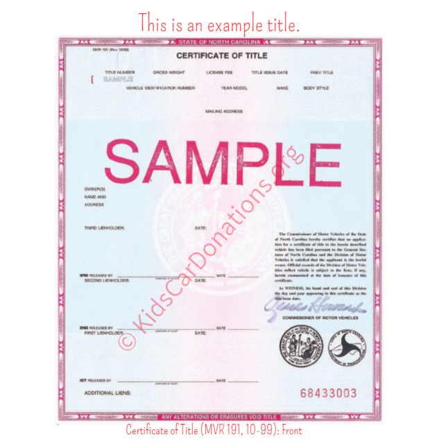 certificate of title sample