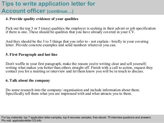 application letter for reconciliation officer